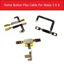 Back Home Button FingerPrint Flex Cable For Nokia 5 6 8 Sensor Touch ID Fingerprint Flex Ribbon Replacement Parts