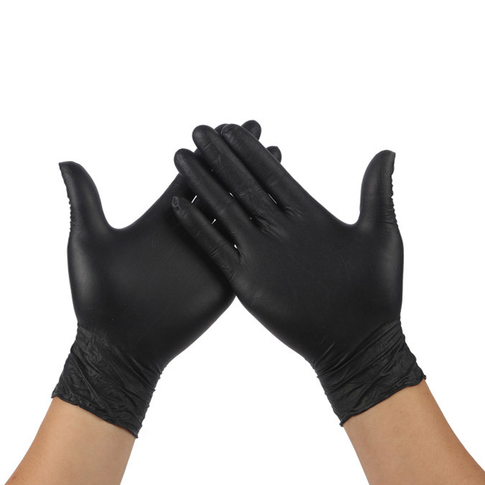 10PCS/Lot Disposable Black Gloves Tattoo Household Durable Tattoo Accessories Permanent Tattoo Makeup Tool 3 Sizes Drop Shipping