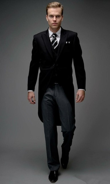 Tailored elegant bridegrom gray morning suit wedding tuxedo for tailored elegant bridegrom gray morning suit wedding tuxedo for mengroomwear 3 pieces suits set junglespirit Gallery