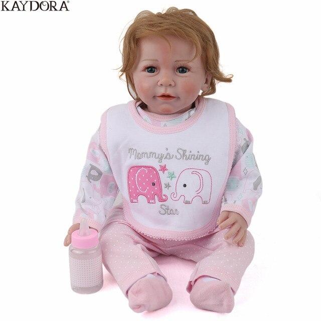 KAYDORA 22Inch 55cm Silicone Reborn Baby Dolls Artist Handmade Lifelike Realistic New Bebe Reborn Girl Dolls Christmas Gift