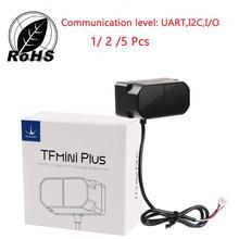 Lidar Range Finder Sensor Module TFmini Plus, IP65 Waterproof Dustproof Ranging UART, I2C, I/O 5Pcs / 2Pcs 1pcs