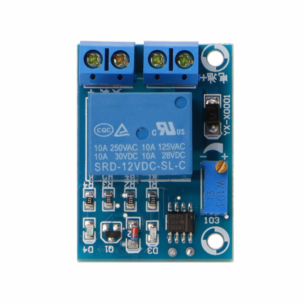 Automatic 12V Battery Low Voltage Cut off Turn On Switch Excessive Protect Board