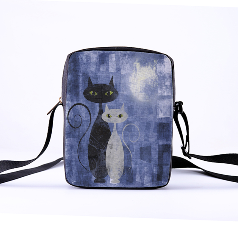 CROWDALE Women Crossbody Bags famous Cat or fo Printing for Kid Girls Casual Mini Female Children Messenger Bag Bolsos Mujer