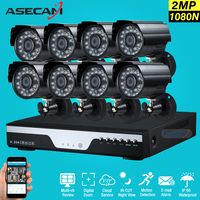 New 8ch 1080p CCTV Kit DVR H 264 Video Recorder AHD Outdoor Mini Bullet 2mp Security