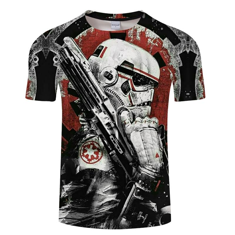 2019 camiseta a la moda de los hombres de Star Wars traje de dibujos animados película T-shirt.Harajuku adulto darth vader divertida camiseta de los hombres, tamaño americano
