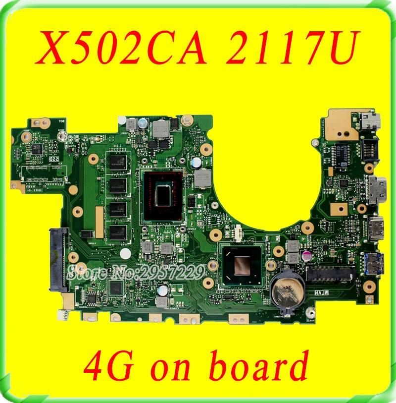 все цены на  For Asus Motherboard F502C F402C X502CA X402CA REV2.1 Mainboard With  2117 Processor 4g Memory on Board  100% Work  онлайн
