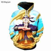 Anime Naruto Uzumaki 3D Cetak Jaket Pria Wanita Hiphop Hoodies Pullover  Olahraga Kaus Topi Anak 9d62118dce