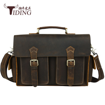 цена на men handbags vintage 2017 new business man cow leather fashion brand casual briefcase bags genuine leather dress laptop bags