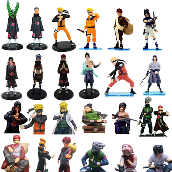 1pc/lot Naruto Figures 26 Styles Anime Zetsu/Minato/Itachi/Sasuke/Yahiko/Konan Action Figure Toys PVC Collections Kids Toys