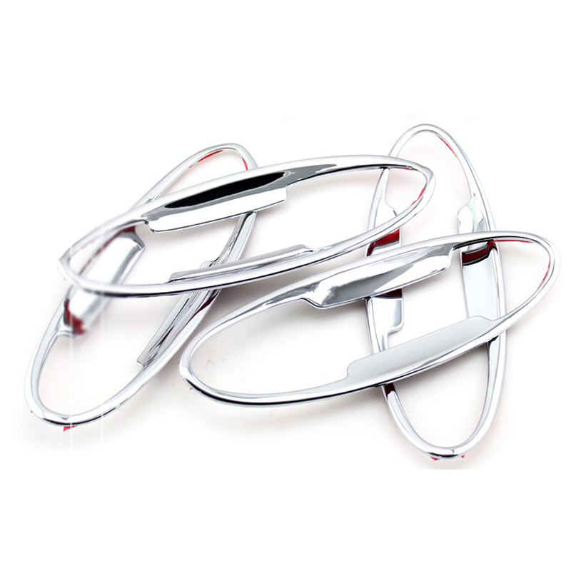 Car Auto Accessory Door Handle Bowl Cover  Decoration Trim Fit For FORD FIESTA With Abs Chrome 4pcs Per Set nitro triple chrome plated abs mirror 4 door handle cover combo