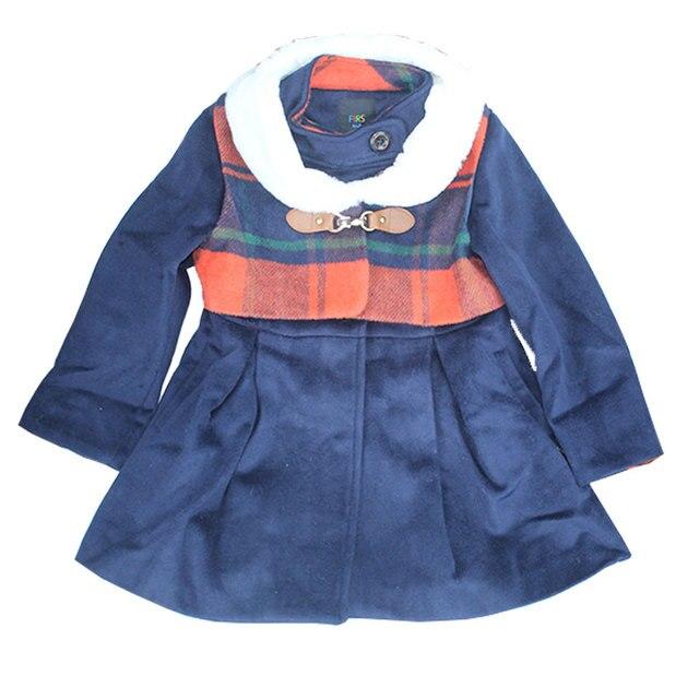 Capa de la muchacha muchacha de los cabritos de abrigo de lana de lana de invierno 2017 nueva moda de manga larga caliente simples niños clothing