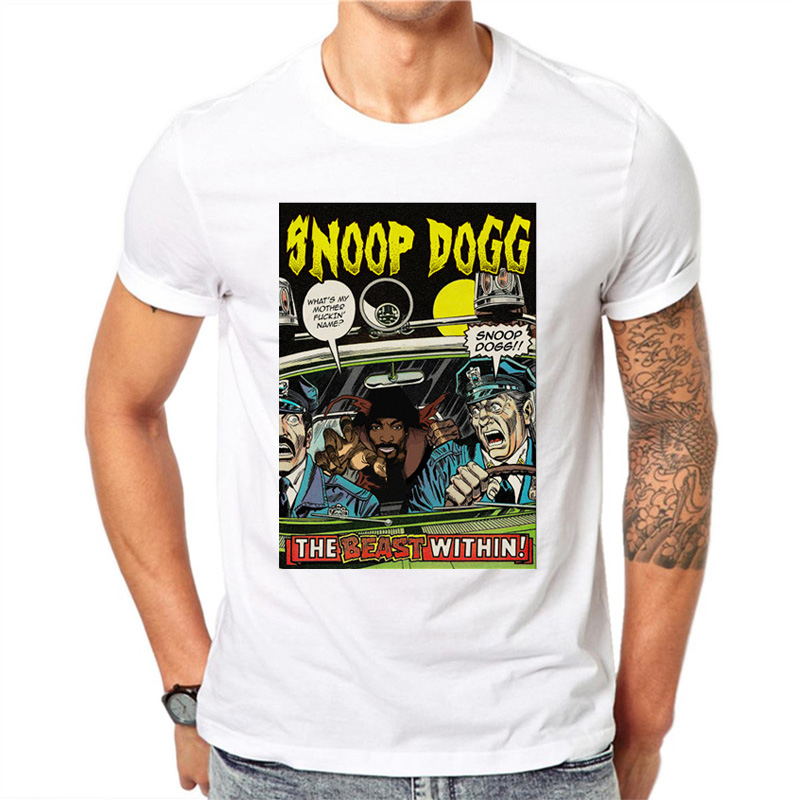 9499575212809 Snoop Dogg New Arrivals 2019 Fashion T Shirt Men Casual White Printed T  Shirt Summer Hipster Cool Male Tops Tee streetwear-in T-Shirts from Men's  Clothing ...
