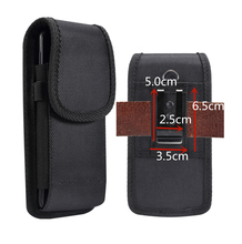 Universal Pouch Holster Case Oxford Cloth Nylon Belt Loop Clip For iPhone X XR XS Max 6 7 8 Plus Cover Samsung Smartphone