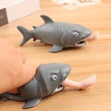Белая Акула мягкое медленно поднимающееся Джамбо шнурок мягкое медленно поднимающееся мягкое смешное антистресс хитрая игра мягкое
