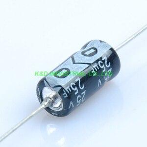 Image 2 - 10 ピース 6.3*13 ミリメートル 25 ボルト 25 uf アキシャル電解コンデンサオーディオギター真空管アンプ Diy