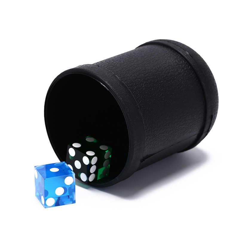 Gmarty 1Pc 7,5 cm X 10cm Würfel Tasse Kunststoff Material Schwarz Spiel Spielzeug Kunststoff Würfelbecher Schütteln Tasse
