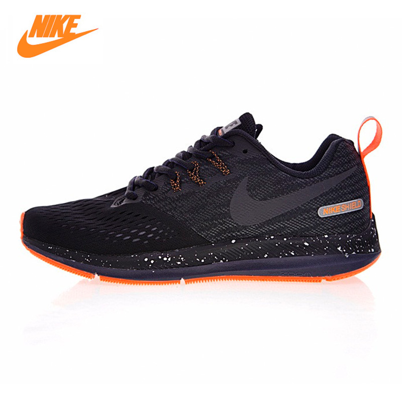 NIKE ZOOM WINFLO 4 SHIELD Men's Running Shoes ,Original Sports Outdoor Sneakers  Shoes , Black