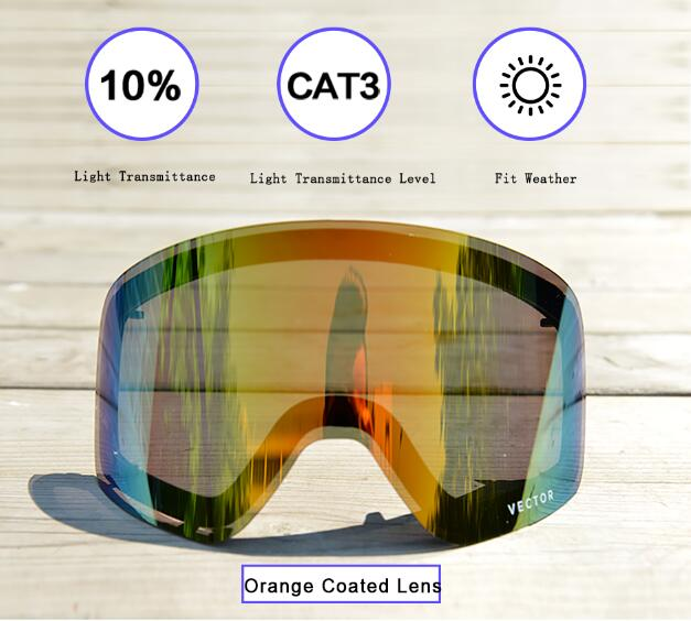 Image 5 - Only Lens For HXJ20011 Anti fog UV400 Skiing Goggles Lens Glasses Weak Light tint Weather Cloudy Brighteningski goggle lensgoggles lensski goggles -