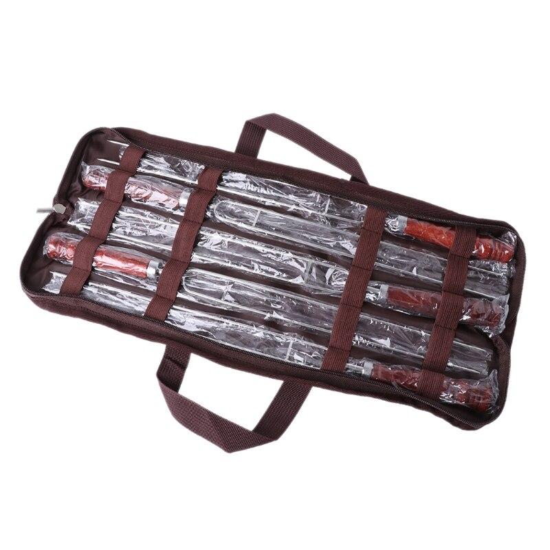5Pcs/Set Roasting Forks With Bag Camping Hot Dog Skewers BBQ Forks Barbecue Tool