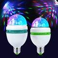 E27 luz Colorida Noche LED RGB Auto Rotating luz de la Etapa Luz de La Etapa de Luz Láser Proyector LED Lámpara de La Fiesta de Navidad