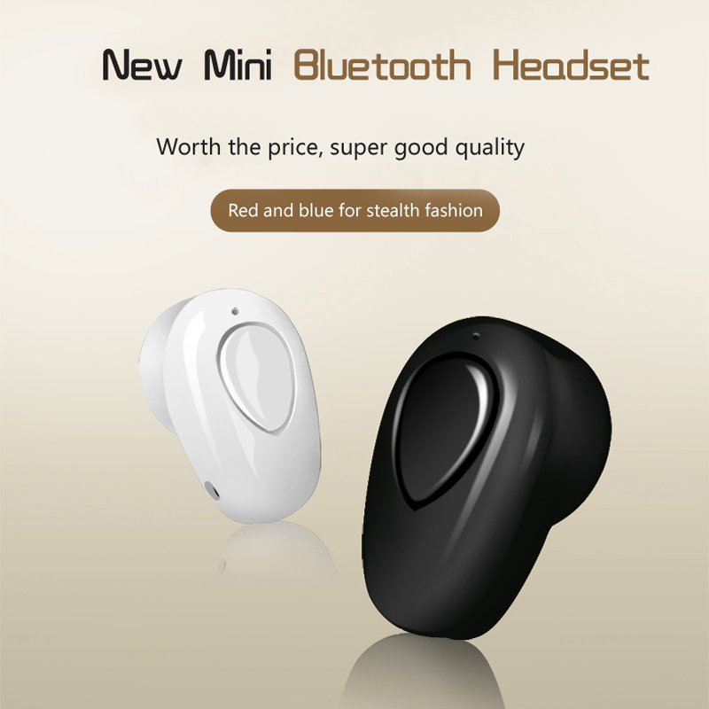 Newest In-Ear Wireless Spy Micro Earpiece For Mobile Phone Super Mini Bluetooth Headset With Mic Earphones S520