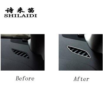 รถจัดแต่งทรงผม AC Outlet Trim Refit Air Outlet แดชบอร์ดกรอบสติกเกอร์สำหรับ Audi A4 B8 A5 RHD LHD ภายในอุปกรณ์เสริมอัตโนมัติ
