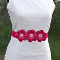 women sash belt baby girl satin Layered flower sash Belt Wedding bridesmaid Pearl Flower sash party accessories 200pcs/lot