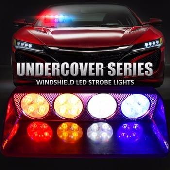 Notlichtschalter | Led Blitzlicht Windschutzscheibe Auto-Signal Notfall Plattform-dash-warnleuchte Feuerwehrmann Polizei Leuchtfeuer Lkw Stroboscopes Blink Licht