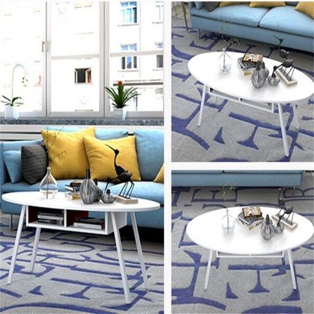 100x50x42 cm oval moderna mesa de noche de madera lateral sofá mesa ...