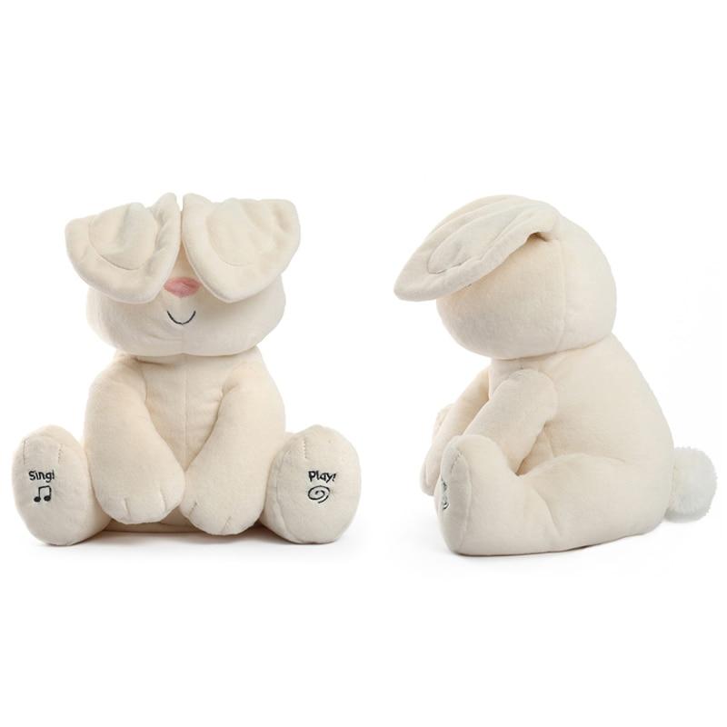 Rabbit Flappy Ear Plush Peek A Boo Bunny Doll Music Stuffed Soft Bunny For Girl Boy Anti-Stress Sleeping Toy Children Gift