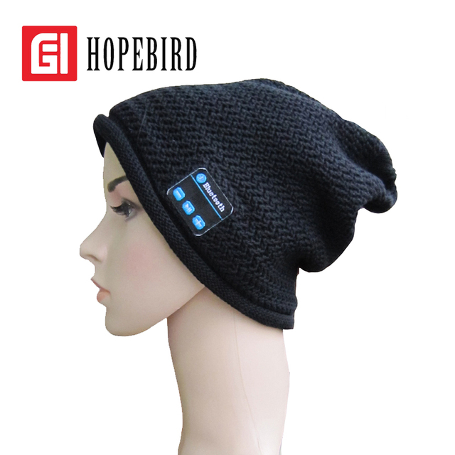 2017 Warm Plush Double Leisure Sports Telephone Music Cap Bluetooth Autumn Winter Knitted Hat Fashion Women Men