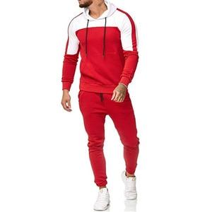 Image 1 - 2018 nuevo casuales hombres camuflaje impresso Patchwork chaqueta hombres chaqueta de piezas 2 chandal ropa deportiva sudaderas