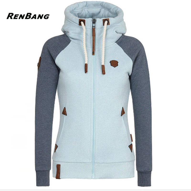 RENBANG Fashion Women Hoodies Sweatshirt