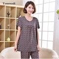 Женщины Пижамы Летом Пижамы Хлопка Тонкие С Коротким Рукавом Дамы Пижамы Женщин Пижамы Сна Набор