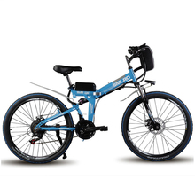 SMLRO 24 inch  folding electric mountain bike 48V lithium  battery electric bicycle 500W motor ASSIST rang 60km max speed 35km/h