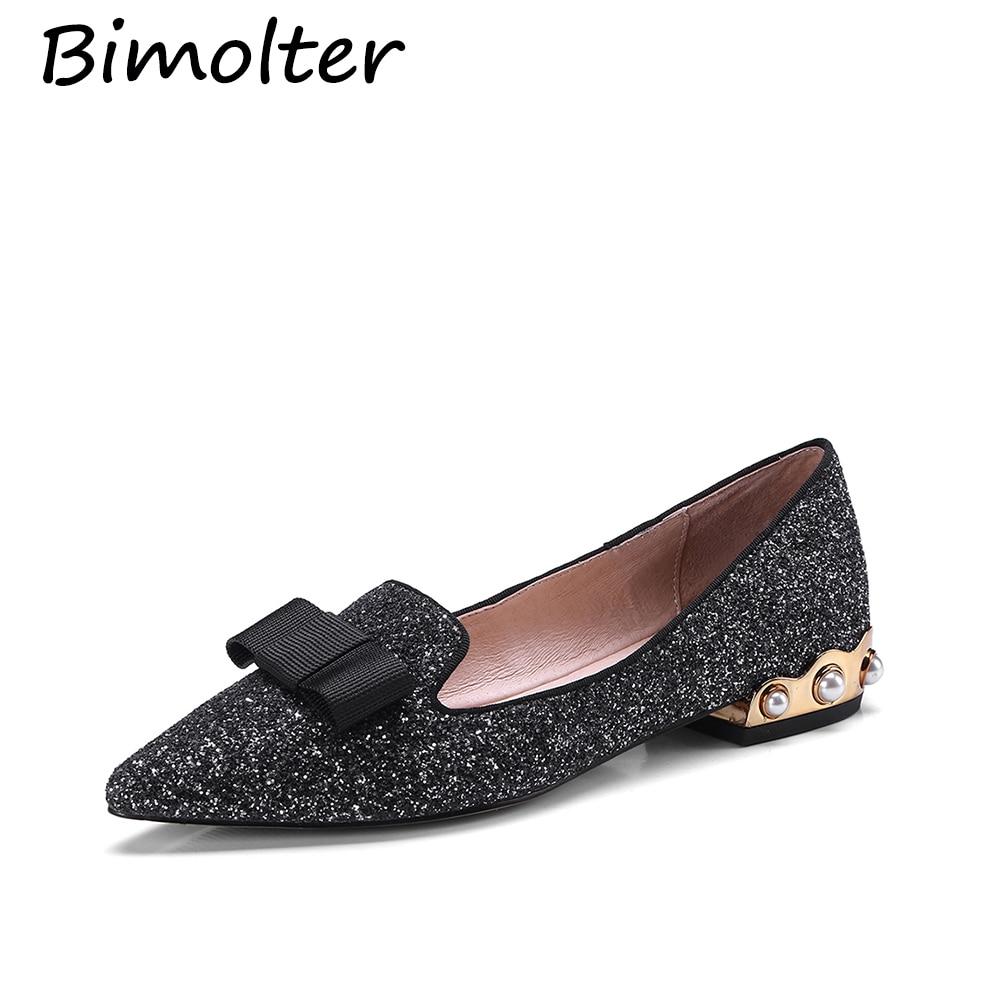 Bimolter Echtes Leder Flache Schuhe Frau Schaf Wildleder Loafers - Damenschuhe - Foto 2