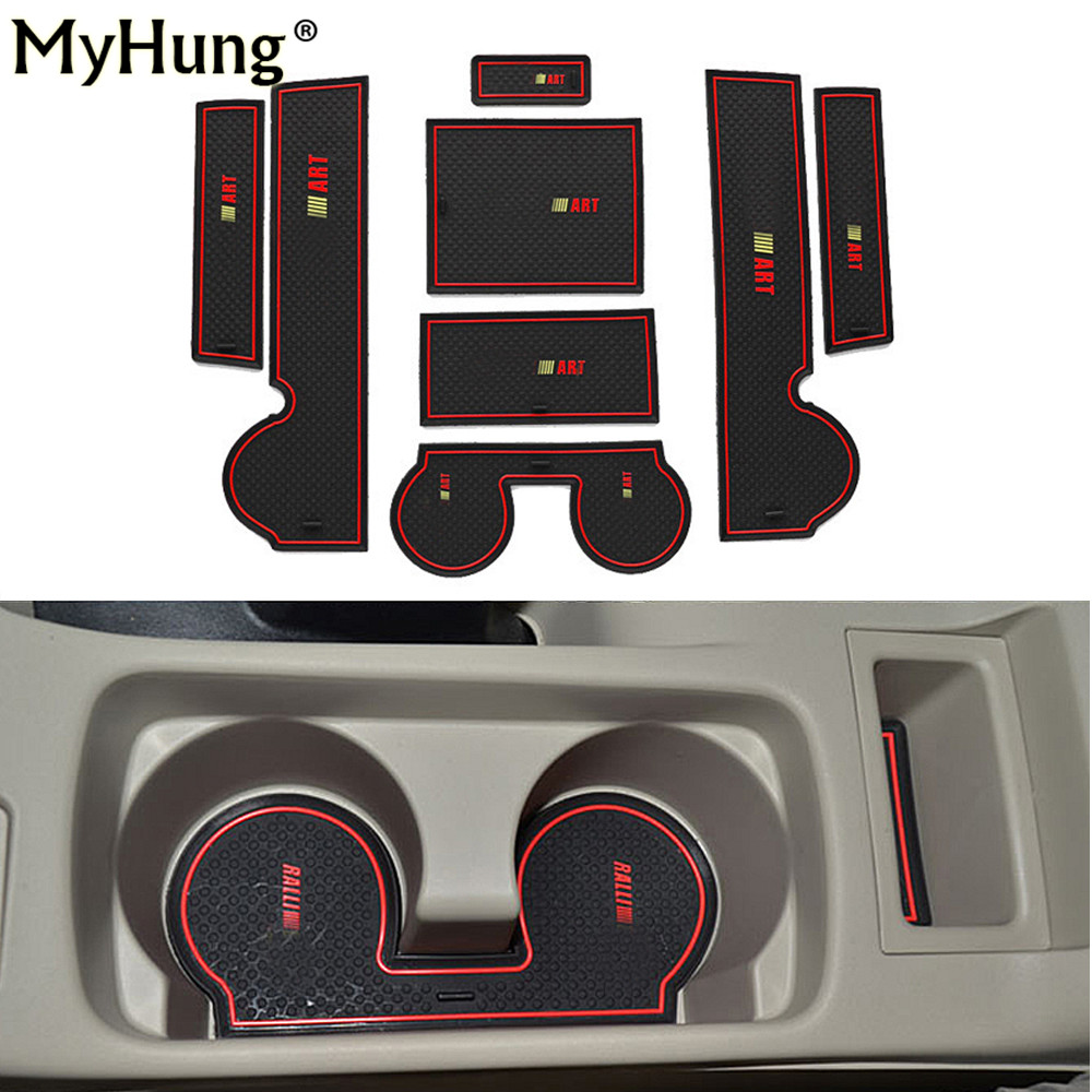 Car-styling case for Mitsubishi Lancer EX Sport 2008-2015 Car Non-Slip Interior cup cushion Door Mat case for car accessories car styling mat interior accessories case for mitsubishi car styling anti slip mat