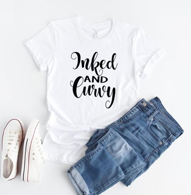 T-shirt femme imprimé coton décontracté t-shirt drôle pour dame haut pour fille t-shirt Hipster Ins NA-100