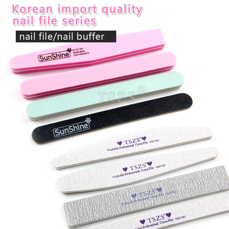 New Nail Art Manicure Tool Korea High Quality Grey Black Nail Files Sanding Buffer Magic Buffer 100180