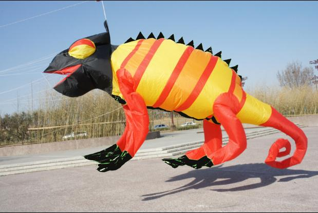 New software chameleon pendant kite Single Line Kites / Soft Rainbow Kites With Flying Tools Beach kite flying