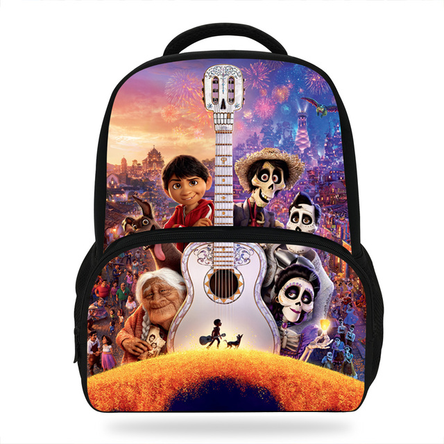 c46adda2b1b 14Inch Popular Cartoon Bag For Children COCO Miguel Backpack For Kids Boys  Girls Students Bookbags Print Casual Backpacks