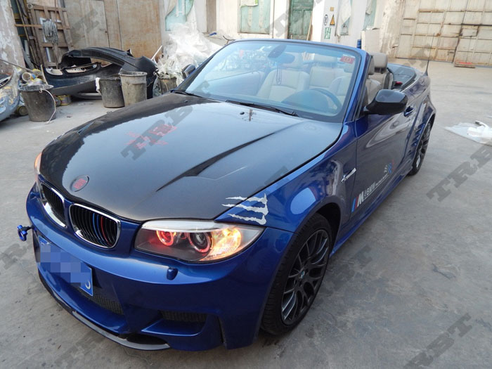 11-12 BMW E82 1 Series & 1M Rz CFRP Hood (8)