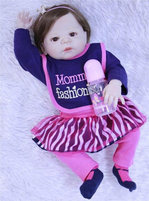 Bebes reborn corps complet silicone reborn bébé fille poupées 23