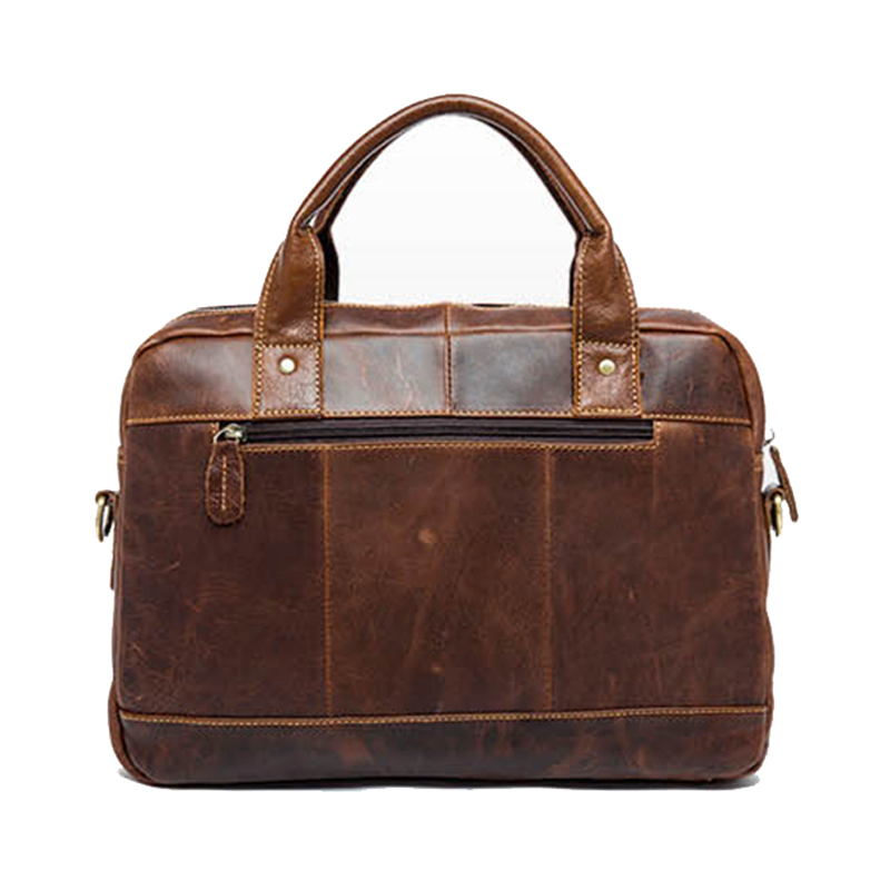 정품 가죽 비즈니스 서류 가방 핸드백 미친 말 피부 - 핸드백 - 사진 3