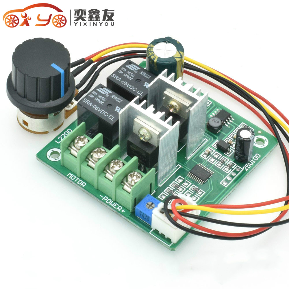 Hard-Working 50pcs Speed Controller 10a Automatic Forward Reverse Motor Speed Governor Cycle Switching Forward Reverse Switch Dc6-60v 6.3 Motor Controller
