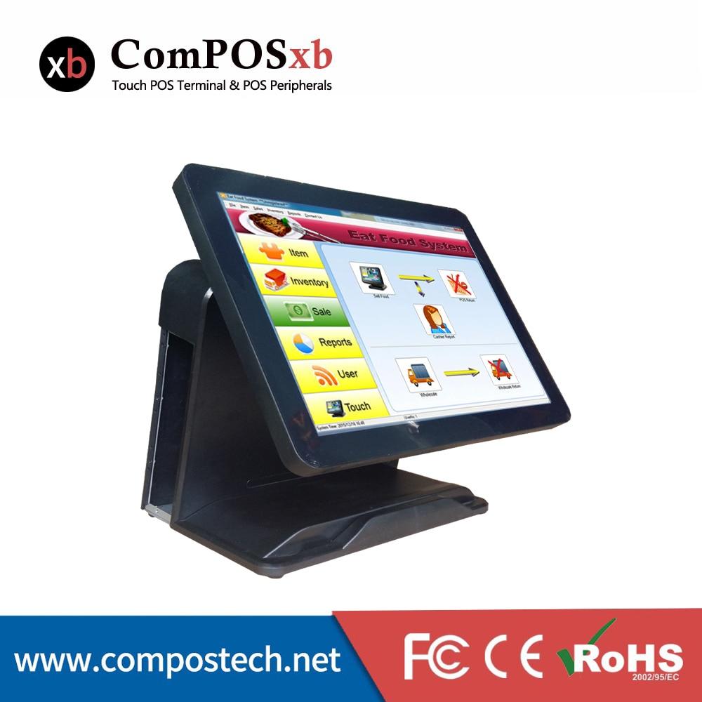 15-palčni TFT LCD vse v enem registrskem sistemu blagajne registrira prodajno mesto odporni zaslon na dotik