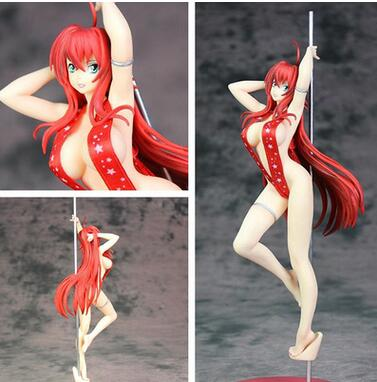 30cm High School DxD Sexy Rias Gremory Pole Dance Action Figure PVC New Collection figures toys Collection for Christmas gift 2015 wholesale back to heaven demon college dxd leah redrawing wire pole dancing editions of hand box