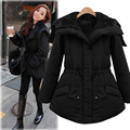 2017 casaco de inverno mulheres corda empate casaco de algodão acolchoado espessamento quente outerwear casaco feminino plus size nova moda chegada
