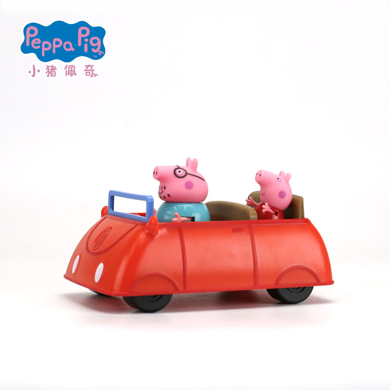 Hot sale Genuine PEPPA PIG -- peppa pigs family car set with peppa and daddy figure KIDS TOY childrens best gift free shippingHot sale Genuine PEPPA PIG -- peppa pigs family car set with peppa and daddy figure KIDS TOY childrens best gift free shipping