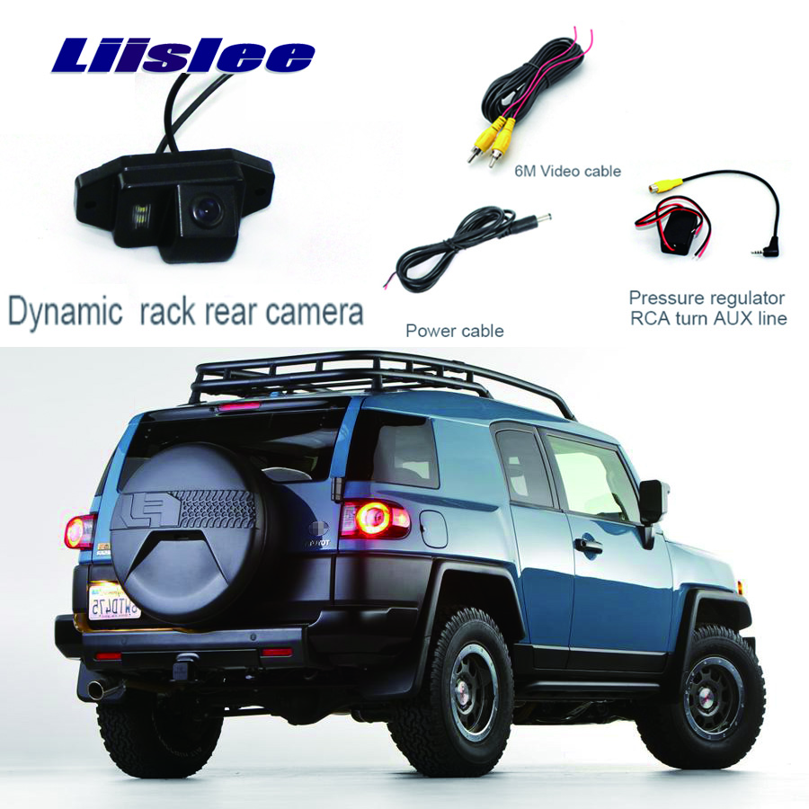 Liislee For Toyota FJ Cruiser Parking Camera Rear View Camera Reverse Backup Camera + Wide Angle +high quality image